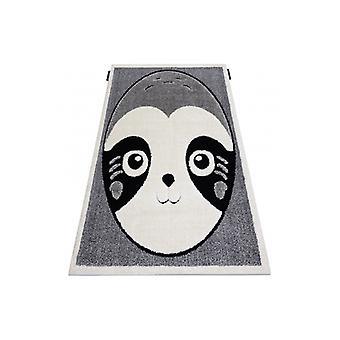 Modern children's rug  JOY Panda, for children - structural two levels of fleece grey / cream