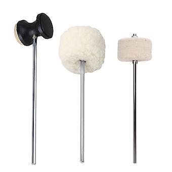 3 szt ze stali nierdzewnej wału Filc Drum Beater Instrument Montaż