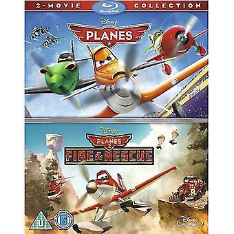 Lentokoneet ja lentokoneet 2 Blu-Ray