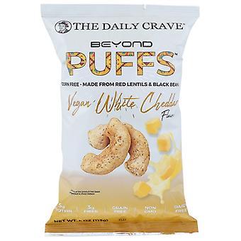 De dagelijkse crave puff veganistische witte cheddar, geval van 8 x 4 oz