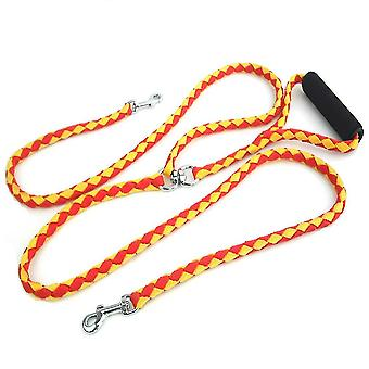 Pet Dog Walking Guinzaglio con imbottito soft handle breakaway 2 teste guinzaglio in piombo 140cm