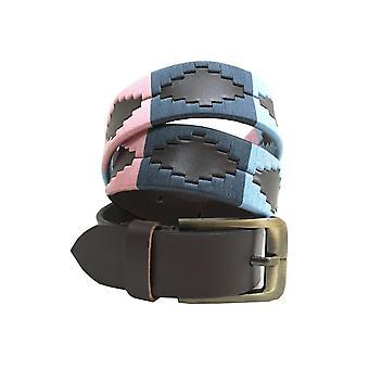 Carlos Díaz cinturón de cuero marrón awo29637