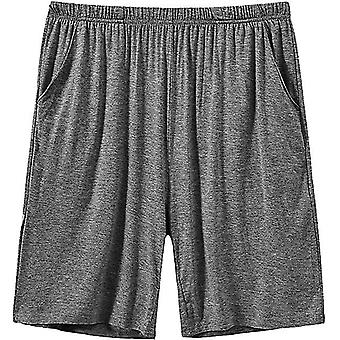 Mens Sleeping Stretch Boxer Pantaloni scurți Ultra-moale Modal Lounge Pijama Bottoms Cu Buzunare (XL)