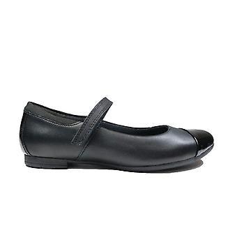 Clarks Scala Gem Black Leather Youth Girls Mary Jane School Shoes