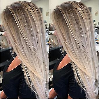 Perucas onduladas de comprimento médio podem ser tingidas por perucas naturais quentes e resistentes ao calor, Rpg