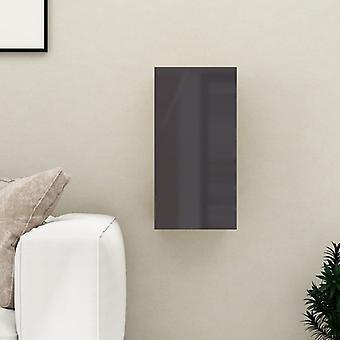 vidaXL armoire tv brillant-gris 30,5x30x60 cm panneau de particules