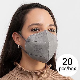 Beskyttende åndedrætsmaske FFP2 NR JS MY-001 Grå (Pakke med 20)