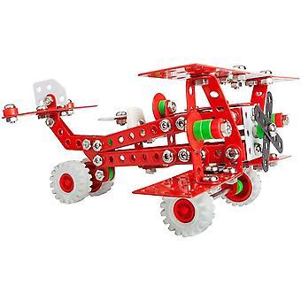 A 1655 Konstrukteur Baron Retro Flugzeug Metall Bausatz, 254 Teile Metallbaukasten, Metallbausatz