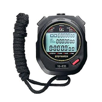 Drie rijen van 100 stopwatch timers track en veld training zwart-wit 2 kleur optioneel hardlopen