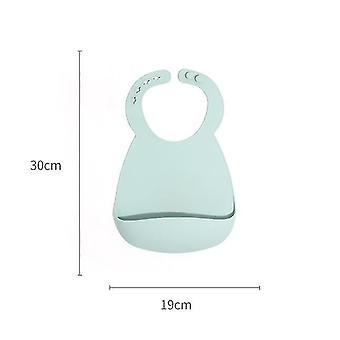 Silikon Baby Lätzchen für Babys Kleinkinder 6-72 Monate, wasserdicht (blau)