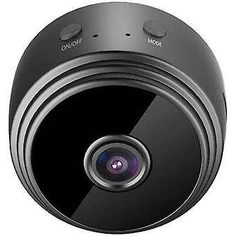 كاميرا تجسس ميني كاميرا خفية واي فاي 4K HD المحمولة كاميرا الأمن الداخلي في الهواء الطلق مع التطبيق المحمول، والكشف عن الحركة، رؤية ليلية (أسود)