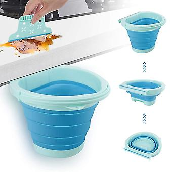 Kitchen Hanging Foldable Silicone Trash Can