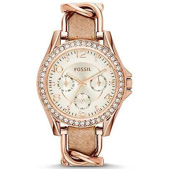 Fossil Riley multifunktions krystaller Es3466 kvinder ' s Watch