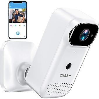 Wireless Security Camera, Rechargeable Battery Powered Camera, Night Vision, 2-Way Audio, WiFi Smart