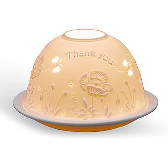 Light Glow Dome Tealight Holder, Thank You