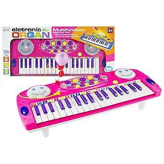 Kindertastatur Pink - mit Mikrofon