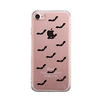 Pipistrello modello Halloween telefono trasparente caso carino chiaro Phonecase