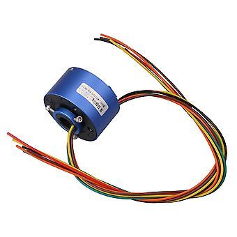 שבבי מעגלים משולבים כחול 200mm אורך כבל 380v 6 חוטים 10a 12.7mm dia כמוסה להחליק טבעות ppm-2274