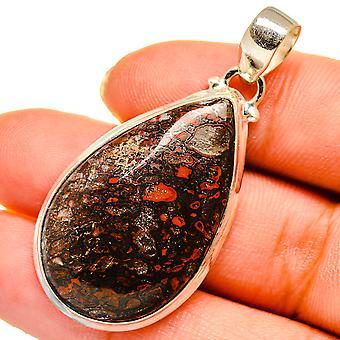 "Dinosaur Bone Pendant 1 1/2"" (925 Sterling Silver)  - Handmade Boho Vintage Jewelry PD10615"