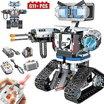 Digital cameras 611pcs high tech remote control robot building blocks future city smart robot car weapon brick