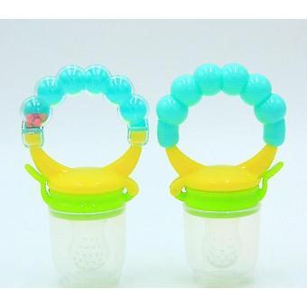 Modern non toxic toddler pacifier feeder and nibbler(Green M)