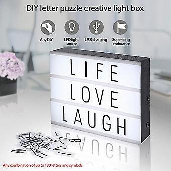 リードレターDIYパズルライトボックスバレンタインデー告白夜光96カード手紙と数字意志ドロップシップで組み立てられました