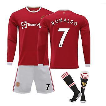 Cristiano Ronaldo Camiseta manchester United, Jersey No.7 Home (talla adulto)