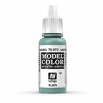 Vallejo Model Color 17ml Acrylic Paint - 972 Light Green Blue