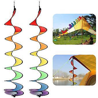 2 Pcs Coloré Spirale Moulin à Vent Tente Wind Spinner Pour Les Décorations de Jardin (couleur)