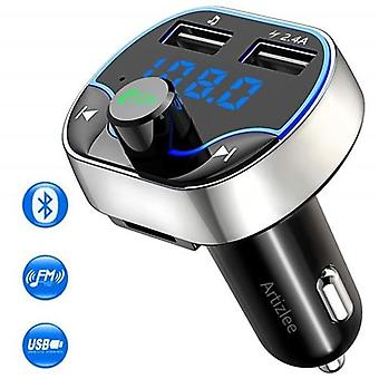 Bluetooth FM adó, Artizlee, Autós töltő Mp3 lejátszó, Vezeték nélküli rádiós adapter adó készlet