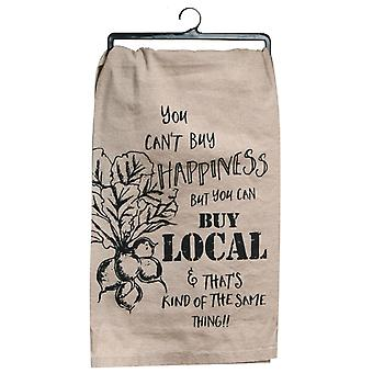 Cant Buy Happiness Buy You Can Buy Local Flour Sack Kitchen Dish Towel