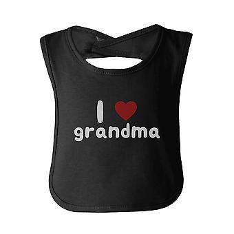 I Love Grandma Cute baby Bibs Funny Infant Snap On Bib Great Baby Shower Gift