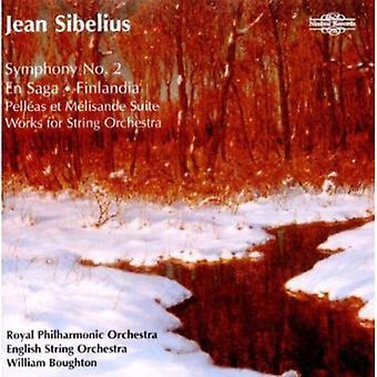 J. Sibelius - Sibelius: Symphony No. 2; En Saga; Finlandia; Pell as Et M Lisande Suite; Works for String Orchestra [CD] USA import