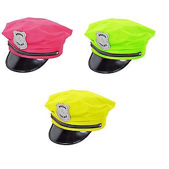 Polizeimütze neon Polizei Hut Neon Nights Polizeihut 80er 90er