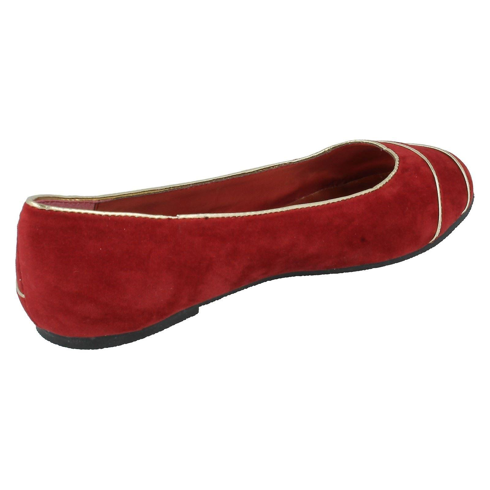 Ladies Spot On Slip-On Flats F8666