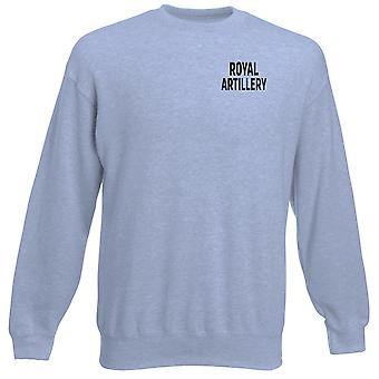 Royal tykistöön RA teksti brodeerattu Logo - Britannian armeijan raskaansarjan pusero