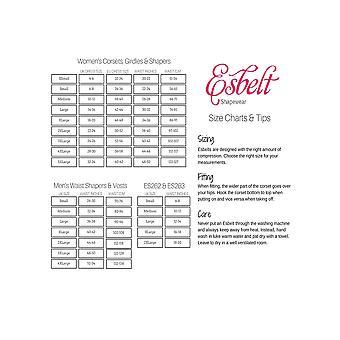 Esbelt ES449 Women's Black Firm/Medium Control Slimming Shaping Waist Cincher