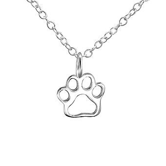 Paw Print - 925 Sterling Silver Plain Necklaces - W23797x