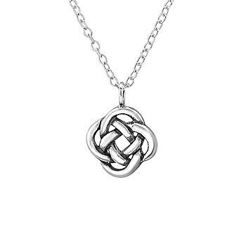 Celtic Knot - 925 Sterling Silver Plain Necklaces - W30870X