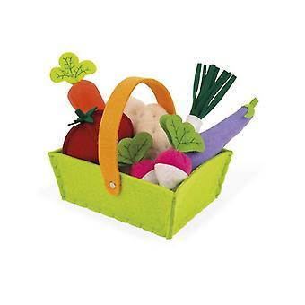 Janod stof plantaardige mand met 8 groenten
