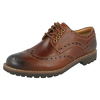 Mens Clarks Formal Brogue Shoes Montacute Wing