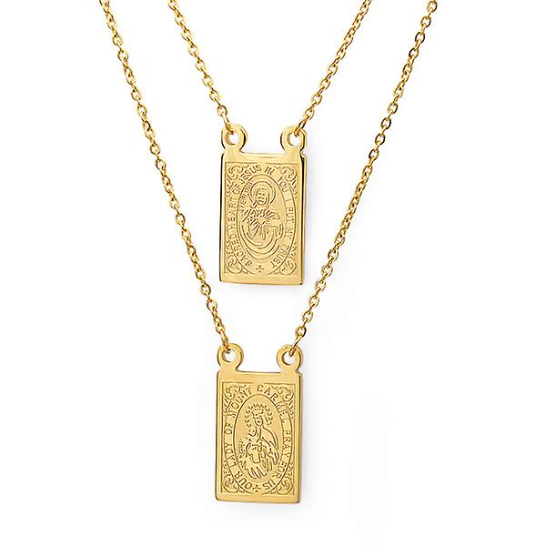 L18K Gold Plated Religious Necklace