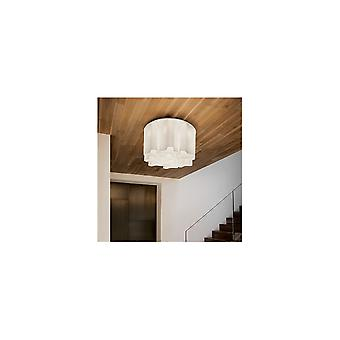 Ideal Lux Compo French White Semi Flush Seabed Medium Light