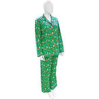 Natale donna/Ladies festivo Santa e Rudolph pigiama