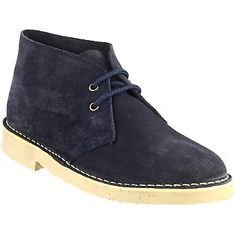 Cotswold Mens Sahara Lace Up Suede Leather Lined Desert Boot Navy