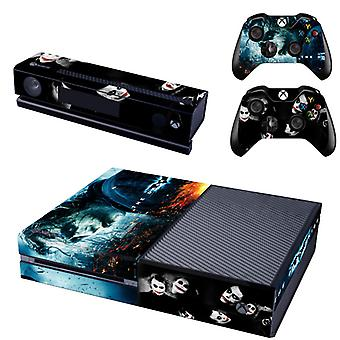 REYTID Console Skin / Sticker 2 x Controller Decals et Kinect Wrap Compatible avec Microsoft Xbox One - Full Set - Batman Joker Dark Knight
