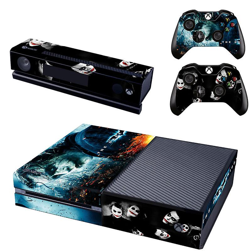 REYTID Console Skin / Sticker + 2 x Controller Decals & Kinect Wrap Compatible with Microsoft Xbox One - Full Set - Batman Joker Dark Knight