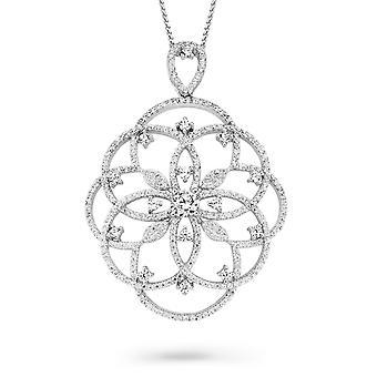 Orphelia Silver 925 Pendant With Chain 42+3 Cm Zirconium  ZH-7213