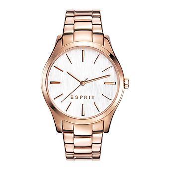 Esprit Damen Uhr Armbanduhr Audry Edelstahl Rosé ES108132006