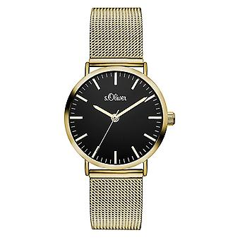 s.Oliver women's watch wristwatch stainless steel SO-3329-MQ